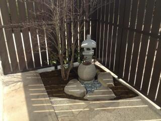 シンプルな坪庭