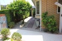 雑草対策の庭