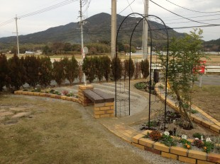 景色を取り入れた庭