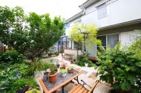 緑に囲まれたお庭